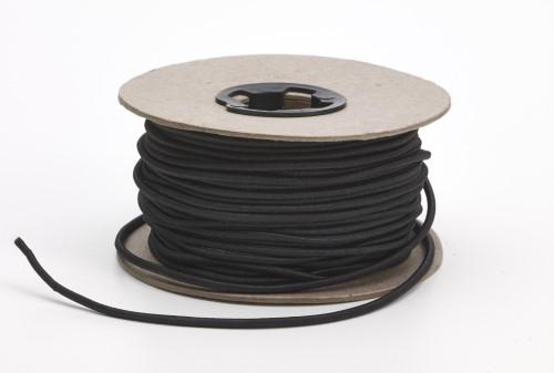 Shock cord, .125 in Wide, 15 yds, Black