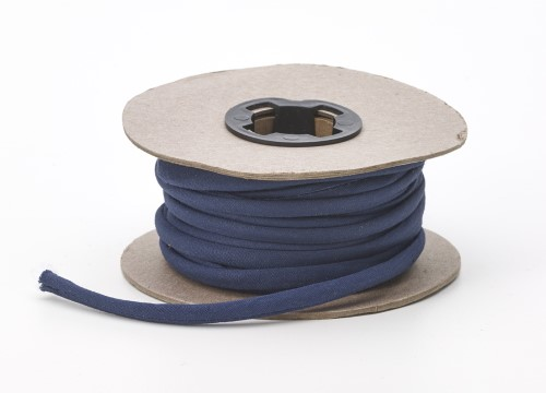 Broadcloth spaghetti, 1/4 in Wide, 25 yds, Navy