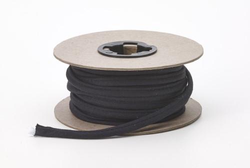 Broadcloth spaghetti, 1/4 in Wide, 25 yds, Black