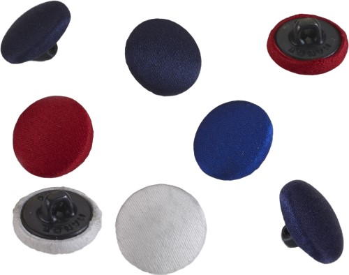 Satin covered buttons, 24 ligne 5/8 in Black, 24 buttons