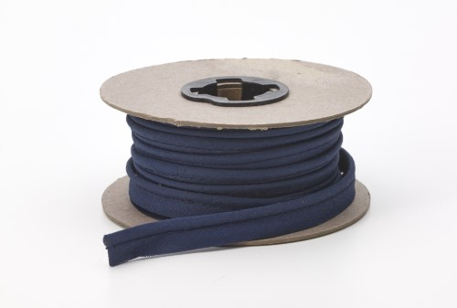 Broadcloth cord piping, 1/2 in Wide, 25 yds, Navy