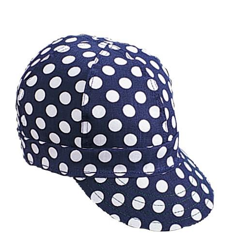 Kromer Welder Cap, Cotton, Length 5 in, Width 6 in- 1size, Blue/White Dot