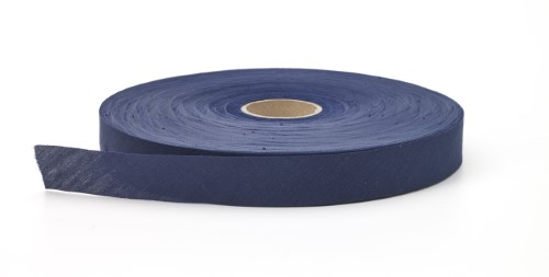 Broadcloth flat bias binding, 1.25 in Wide, 25 yds, Navy