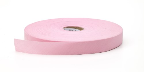 Broadcloth flat bias binding, 1 in Wide, 25 yds, Pink