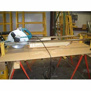 Cross Cut Panel Saw Accessory - Beam Saw Kit (Circular Saw And Table Not Included)