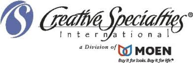 CREATIVE SPECIALTIES, INC. BY MOEN