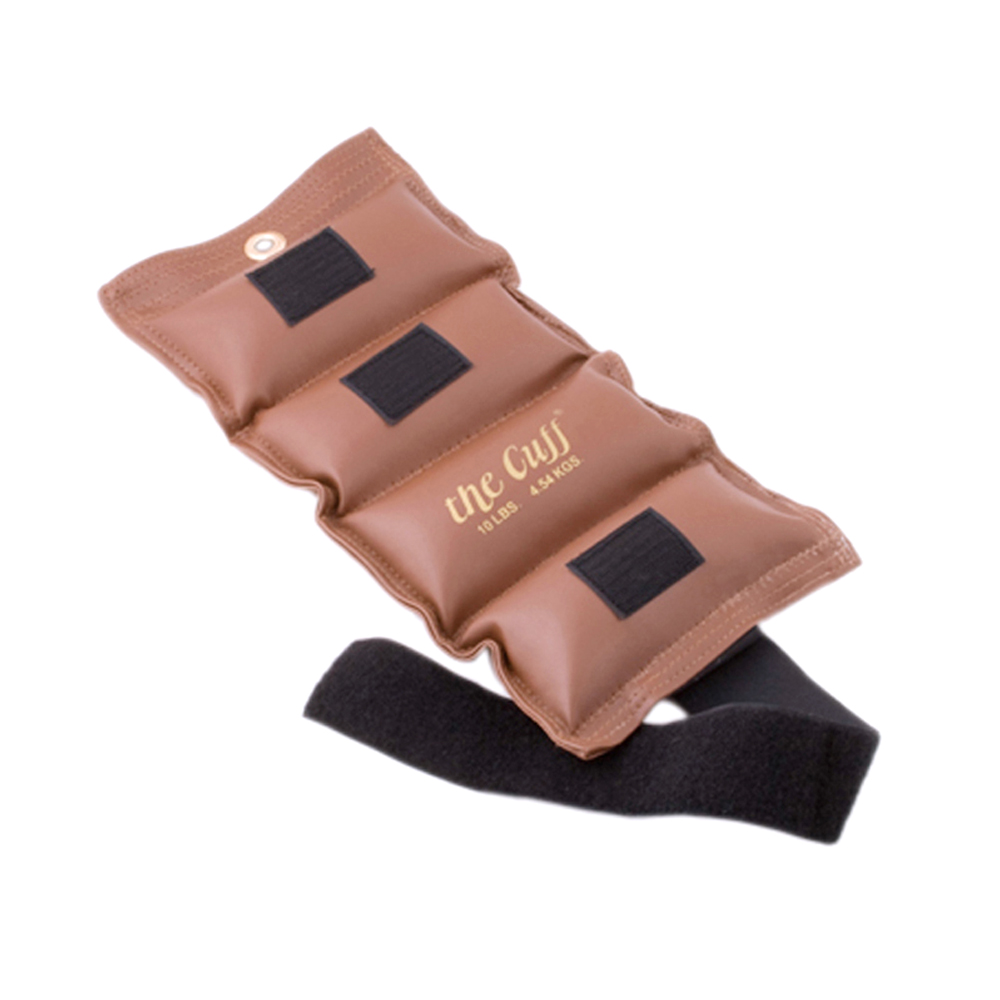 The Original Fitness Gym Cuff Ankle and Wrist Weight 10 lb Brown