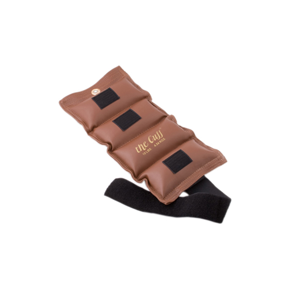 The Deluxe Cuff Ankle and Wrist Weight - 10 lb - Brown