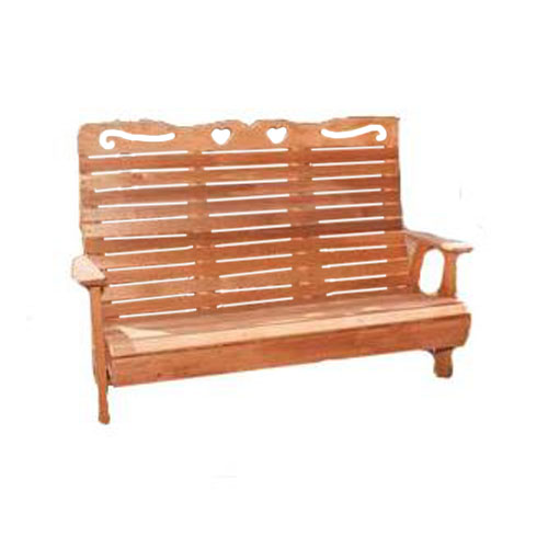 4' Royal Highback Sweetheart Bench