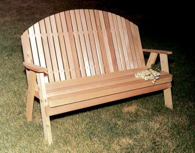 4' Blue Mountain Fanback Bench