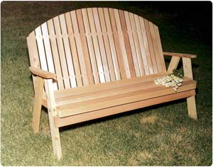 5' Blue Mountain Fanback Bench