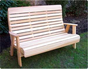 4' Royal Highback Bench