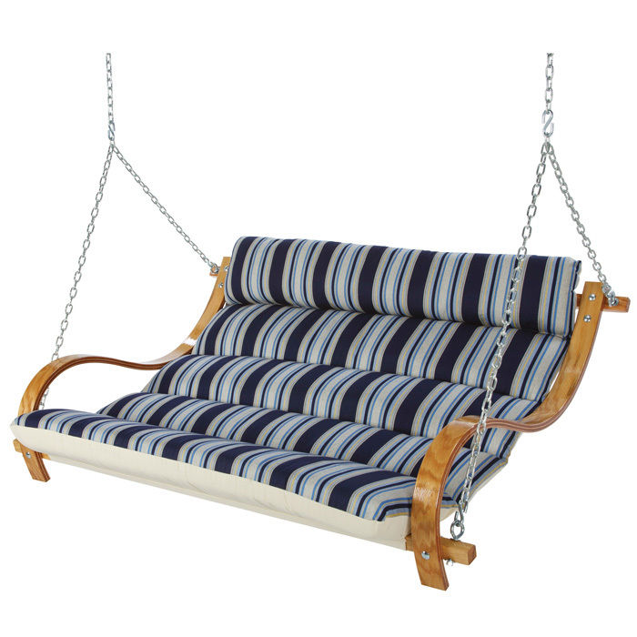 Deluxe Cushioned Double Swing - The Hamptons Summer Stripe