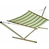 Large Quilted Hammock - Green/White