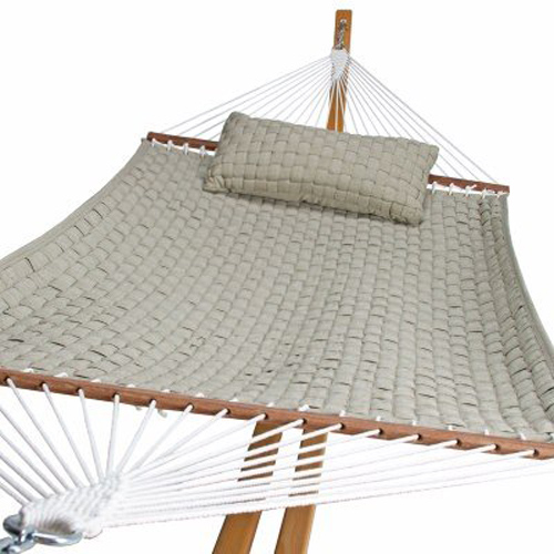 Large Softweave Quilted Hammock - Flax