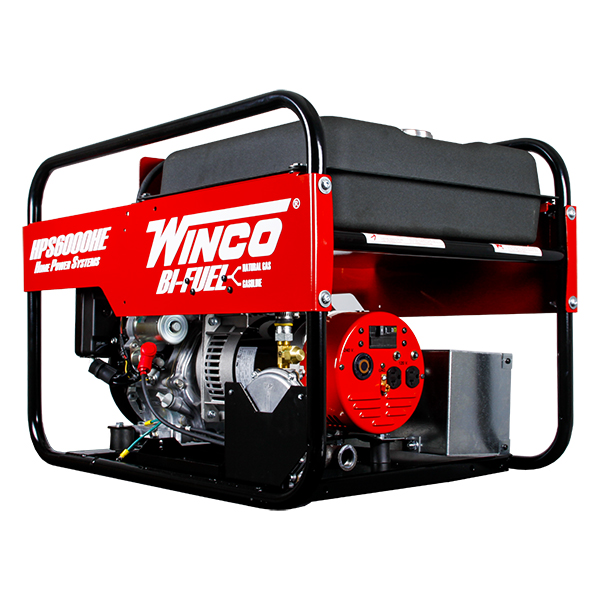 Bi-fuel portable generator:maximum power of 6000w, continuous power of 5500w