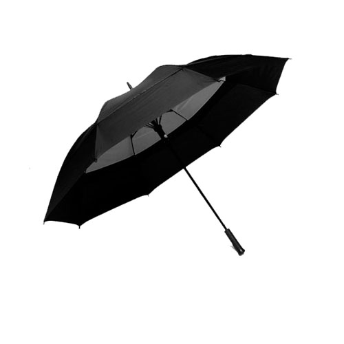 "WINDBRELLA 62"" Golf Umbrella-Black on Black"
