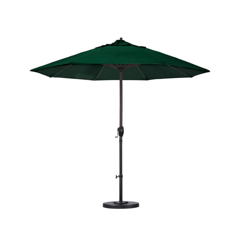 Auto-Tilt 9-foot Patio/Market Umbrella - Hunter Green