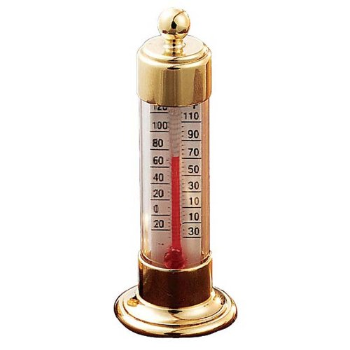 Vermont Grande View Thermometer Living Finish Brass