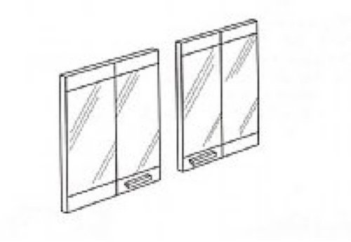 36In Aluminum Bi-Fold Door Black