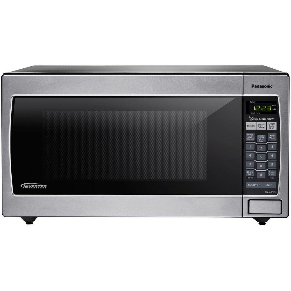 1.6 Cu. Ft. 1250 Watt Microwave, Stainless Steel