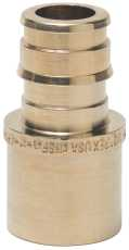 (Open Box)ONE-PIECE BRASS SWEAT ADAPTER, 1-1/4 IN. X 1-1/4 IN. FEMALE, PEX-A, LEAD FREE