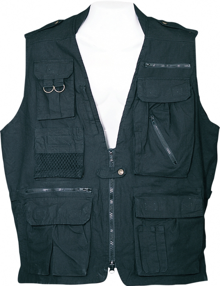 (Open Box)Humvee Safari Vest Black Medium