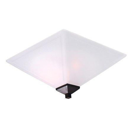 Design House 577403 Torino 2-Light Flush Mount Ceiling Light, Brushed Bronze