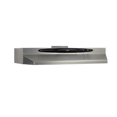 "(Open Box)Broan 30"" 220 CFM Undercabinet Range Hood, Convertible Versatility, Stainless Steel"