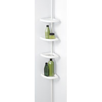 SHOWER CADDY 4-SHELF POLE WHITE