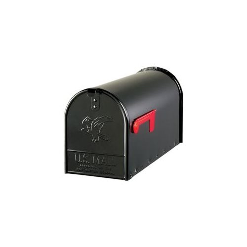 (Open Box)Elite Large Heavy Duty Post Mount Mailbox, Black