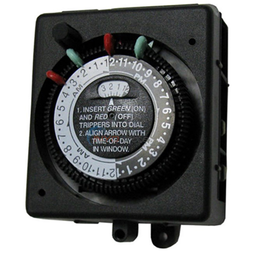 (Open Box)Timer,SPST-125V 24Hr Mechanical 2 On/Off
