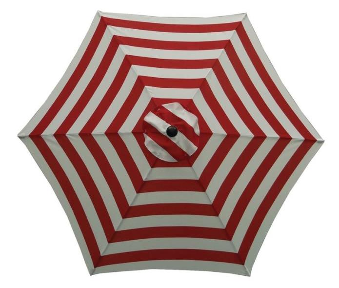 (Open Box)UMBRELLA MARKET 9FT RED/WHITE