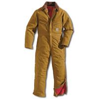Carhartt� 34 Regular Brown Quilt Lined 12 Ounce Cotton Duck Coverall
