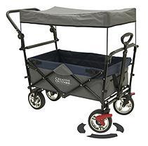 PushPull Fold Wagon Canopy Blue