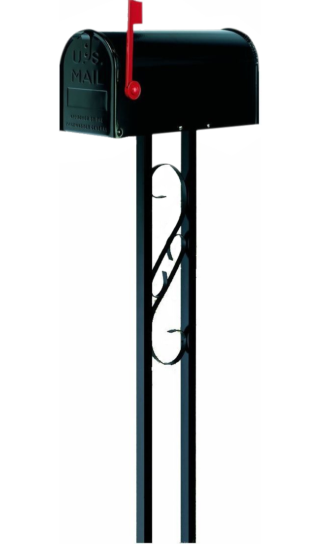 Mail Box Post Combo, Black