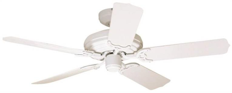"52"" 5 Blade Outdoor Ceiling Fan, White"