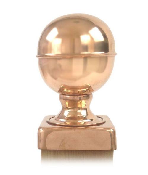 (Open Box)Copper Federal Globe Post Cap (6x6)