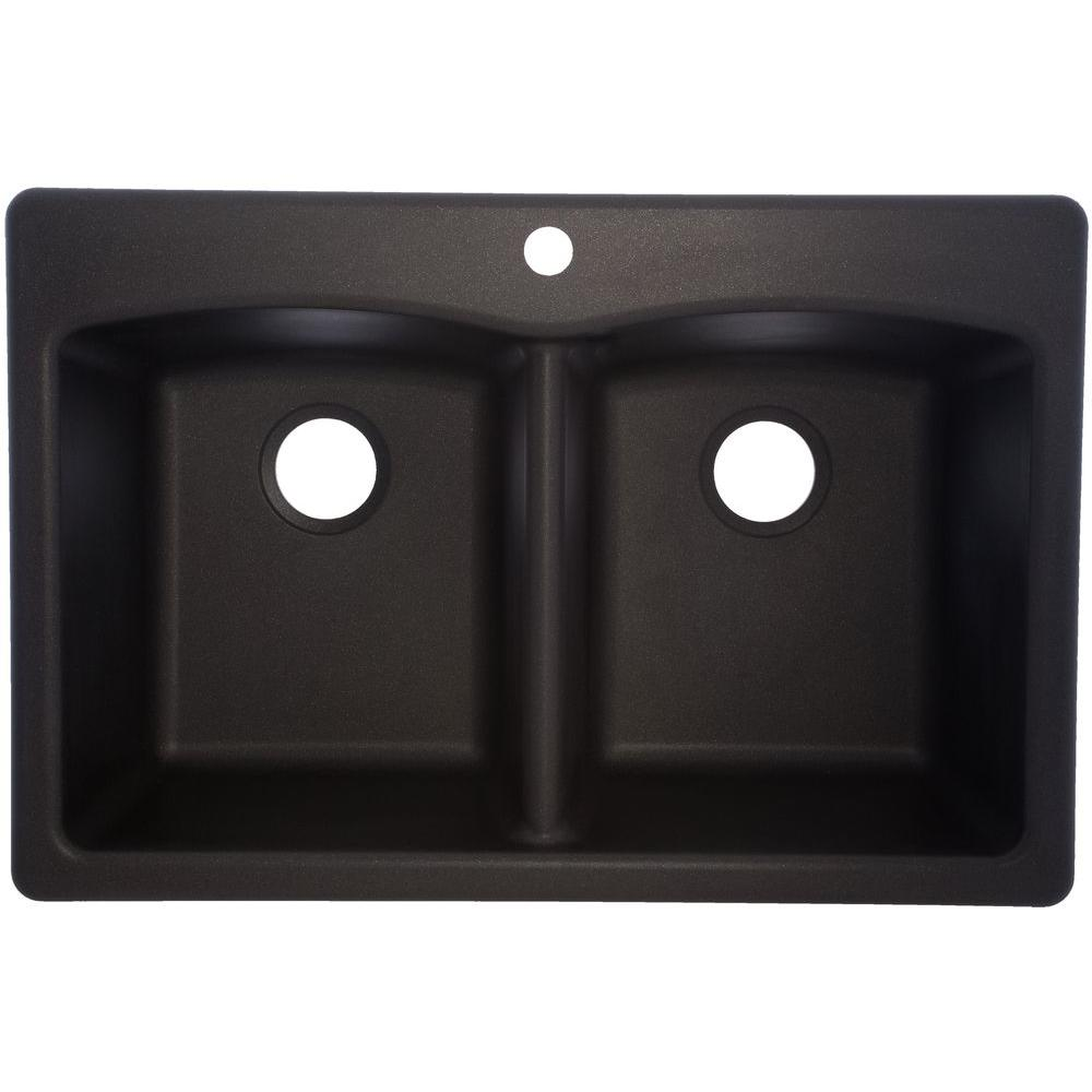 (Open Box)Kitchen Sink Granite Double 33X22