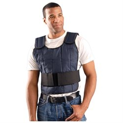 (Open Box)OccuNomix Navy MiraCool� Nylon Cooling Vest With Hook And Loop Closure, Adjustable Mid Section And Shoulders