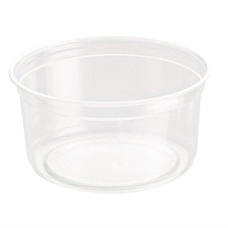 (Open Box)Round Deli Containers, PLA, 12 oz, Clear, 500/Carton