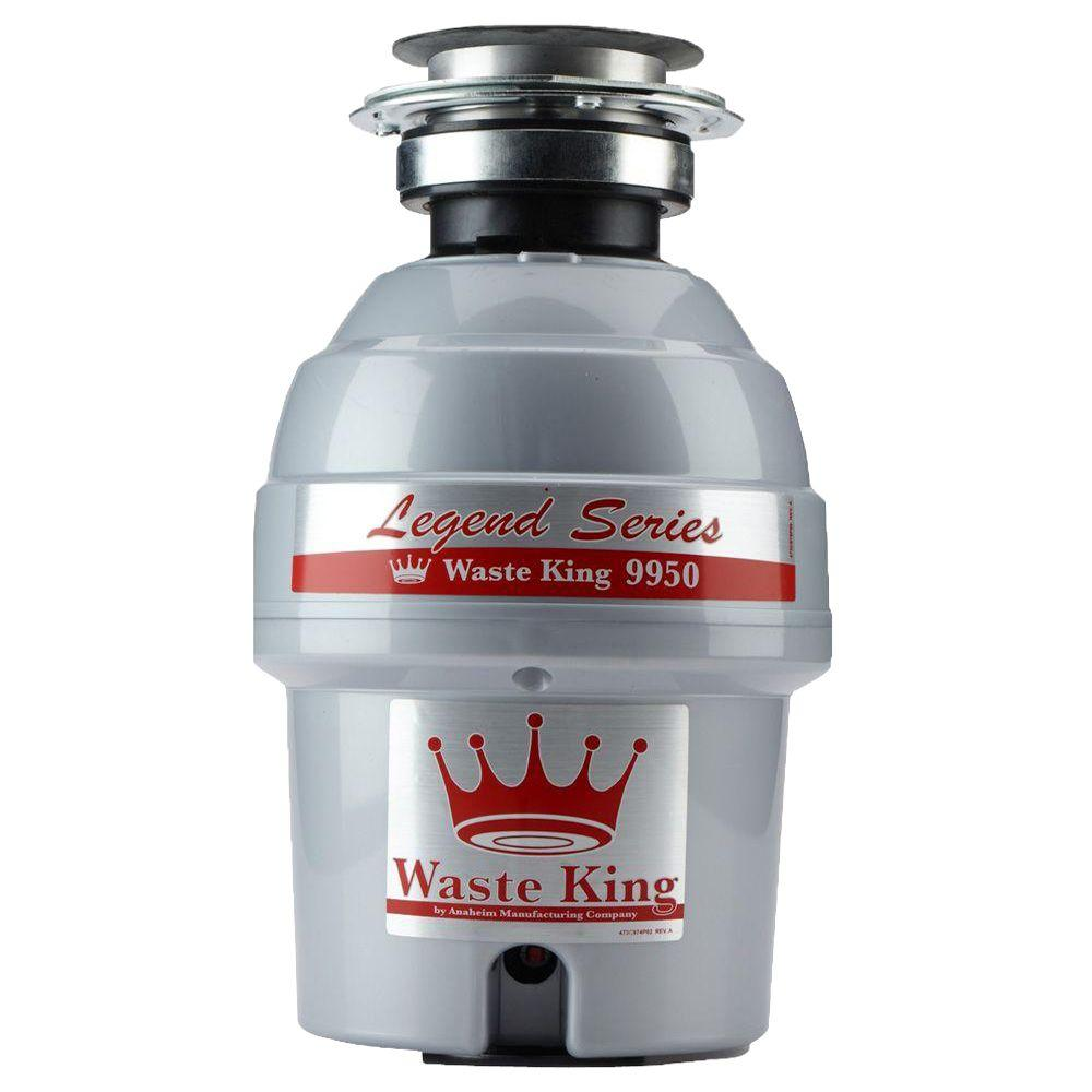 (Open Box)Waste King Legend 9950 Professional Continuous Feed Domestic Disposer, 2700 rpm, 7/8 in