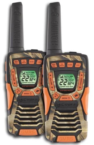 (Open Box)(2) COBRA CXT1045R-FLT-CAMO 37 Mi Waterproof Floating 2Way Radios Walkie Talkies