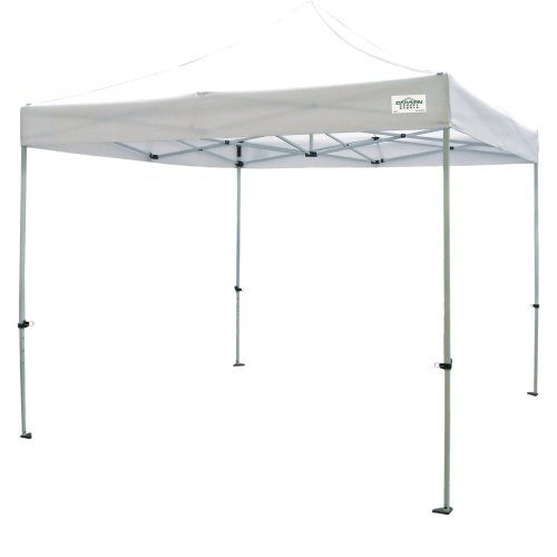 (Open Box)Caravan Canopy TitanShade 10 x 10 Steel Frame Portable Instant Canopy Kit, White
