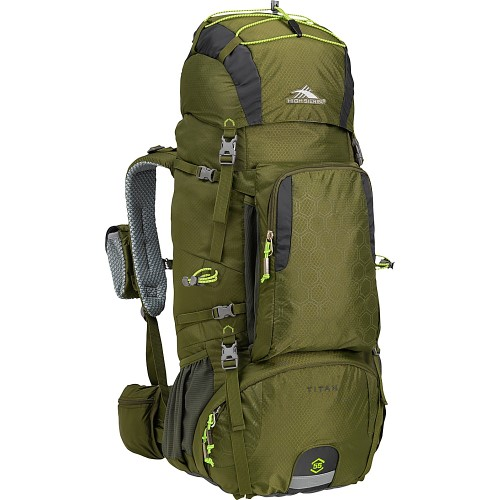 (Open Box)High Sierra Tech 2 Series Titan 55 Frame Pack, Moss/ Mercury | 62421-4416