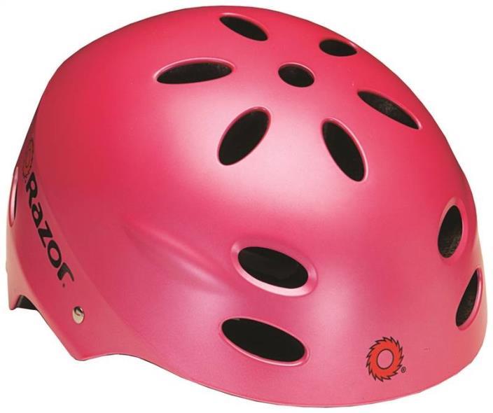 (Open Box)Razor V17 Youth Skateboard and Scooter Sport Helmet, Satin Pink | 97783