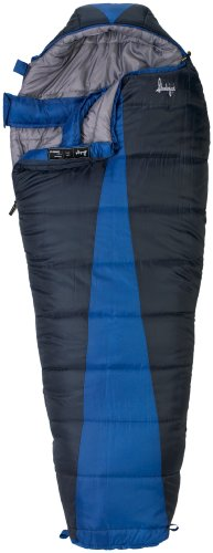 (Open Box)Slumberjack Latitude Negative 20 Degree Polyester Mummy Sleeping Bag, Navy