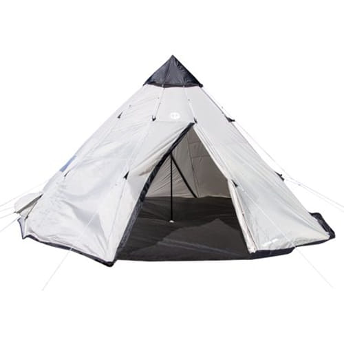 (Open Box)Tahoe Gear Bighorn XL 18' x 18' 12 Person Teepee Cone Shape Camping Tent
