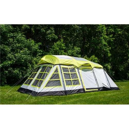 (Open Box)Tahoe Gear Glacier 14-Person 3-Season Cabin Tent + Rain Fly | TGT-GLACIER-19-B