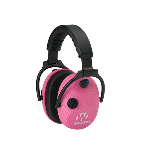 (Open Box)Walkers Alpha Muffs SSL Hunting Shooting 5x Hearing Enhancement Earmuffs, Pink